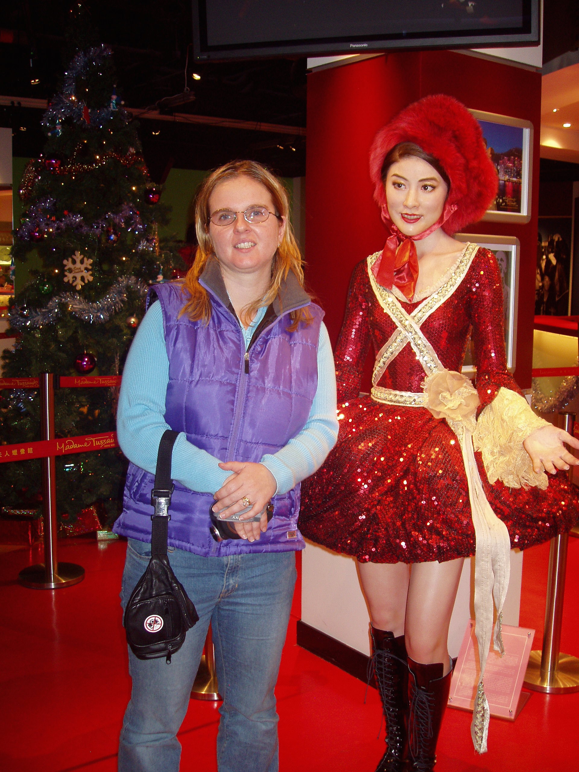 a wax figurine at the entrance of a casino in Macao; December 2006